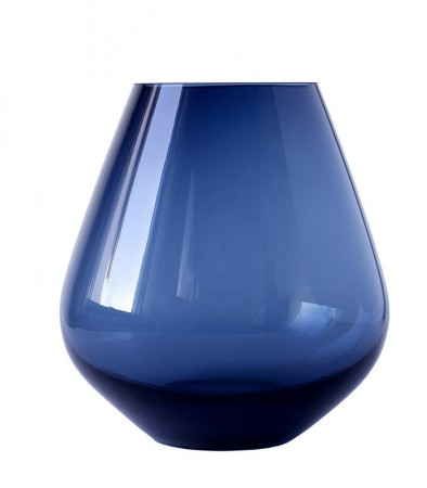 Rocks  stormlykt/vase Blue 220 mm