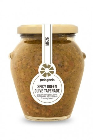 Spicy Green Olive Tapenade, Pelagonia