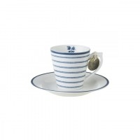 Laura Ashley Espresso  Candy Stripes