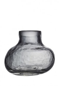 mini vase i sotet glass